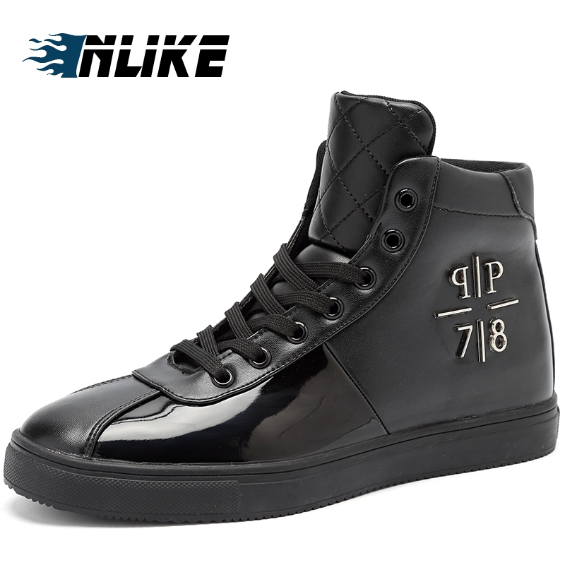 INLIKE Big Size Men Ankle Boots Winter High Top Board Shoes Men Snow Boots Keep Warm Men Boots Flats Boots