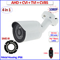 2MP 1080P 4in1 AHD HDCVI HDTVI surveillance camera Color Night Vision outdoor 1.0MP 720P cctv security camera, free bracket, OSD