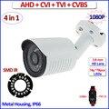 HDCVI 2MP 1080 P AHD 4em1 HDTVI surveillance camera Color Night Vision 1.0MP 720 P ao ar livre câmera de segurança cctv, suporte gratuito, OSD
