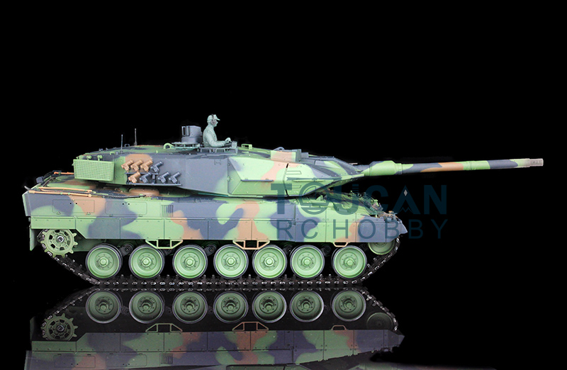 2.4Ghz HengLong 1/16 Scale German Leopard2A6 RTR RC Tank Plastic Version 3889 2 4ghz 1 16 scale henglong deep green german leopard2a6 rc rtr tank model metal tracks wheels 360 degrees rotation turret 3889