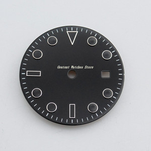 Image 2 - 28.5mm/31.5mm Sterile Black Dial Kit Mingzhu 2813/3804,Miyota 82 Series Movement Watch Accessory