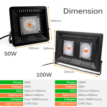 AC110V/220V Grow Led Full Spectrum 50W 100W Floodlight Fitolampy For Plants Waterproof IP65 Full Spectrum Led Aquarium Lighting full spectrum led grow lighting 49 3w 147w mini ufo good for the growth of plants free shipping to russia