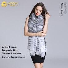 Yopota бренд чистого кашемира роскошные шарфы негабаритных длинная шаль inkiet печать сохраняет тепло первоклассный подарок