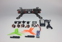 JMT 4-Axis Aircraft Kit with Carbon Fiber Frame+Motor+ESC+QQ Flight Controller+Battery+6Ch Transmitter and Receiver