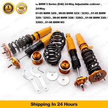 Coilover Suspension Shock Kit for BMW E46 3 Series 328 320 M3 Adjustable Damper 320i 323i / 323C 325i / 325Ci / 325xi Spring