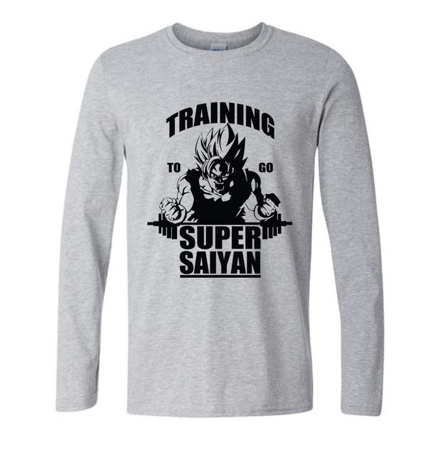 2017 Funny t shirts Autumn Fashion New Arrivals Men's Dragon Balls Z Fashion Long Sleeve T shirt Super Saiyan Tops Goku Printed