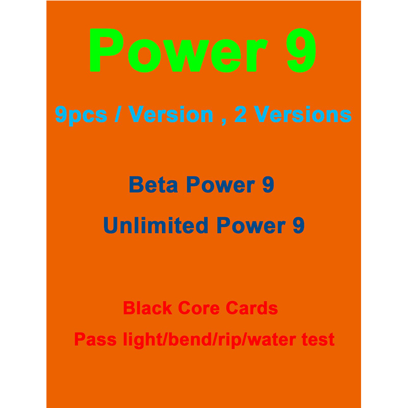 Power9 Black Core Best Magical Paper Card, Lion Recomend Customized Power 9 Deck Cards Proxy Playing Cards