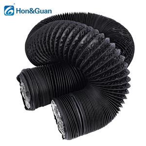 Image 2 - Fan Ducting; 5m 10m Aluminium Flexible Ventilation Ducting, PVC Air Ducting for Kitchen, Toilet, Hydroponics Extractor Fan Duct