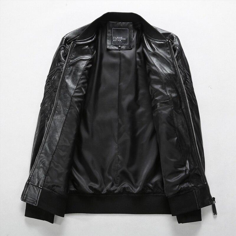Logo Mâle Noir Décontractée Pu En Motards 2019 Printemps Hommes Cuir Manteaux De Animal Moto Veste Vestes jLA34Sc5Rq