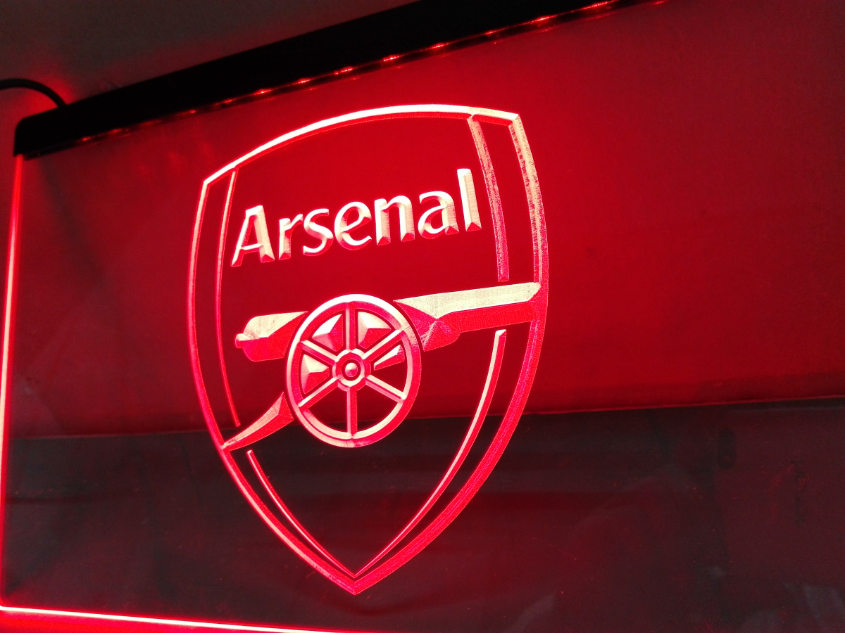 ld203 arsenal led neon light sign home decor crafts in