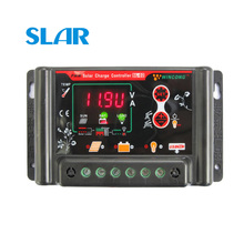 10A 20A 30A 12V 24V 3.7V 12.8V 25.6V 11.1V 14.8V 22.2V LI LI ION NI MH LiFePO4 Battery Solar Panel Charge Controllers Regulator