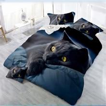 цена на 3D Animal Printing Bedding Set Flower Bed Linen 4pcs/set Duvet Cover Set Pastoral Bed Sheet AB Side Duvet Cover 2019 New Bed
