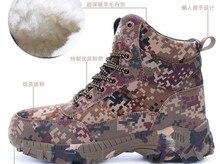 Hommes Bottes de L'armée de Combat D'hiver Camouflage Chaud Laine Chaussures Hommes Tactique Militaire Bottes Taille 39-46