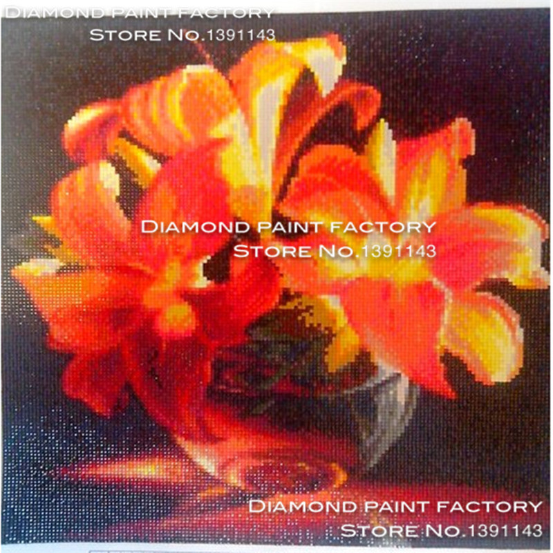 Free Shipping Kit Diy Diamond Embroidery Fresh Small Golden Lily Full - Arts, Crafts and Sewing - Photo 2