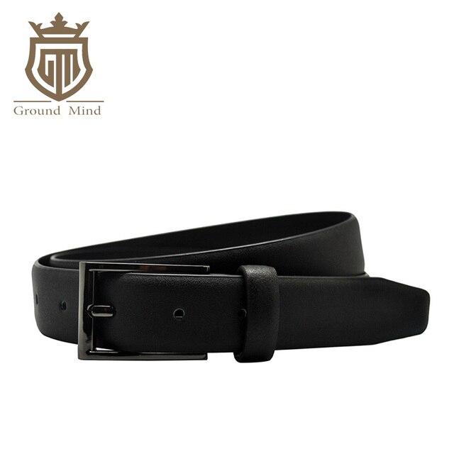 4fdd4f6437dee New Genuine Leather Women's Belt High Quality Cowhide Strap Black Gunmetal  Pin Buckle Office Lady Designer belts 25 mm wide