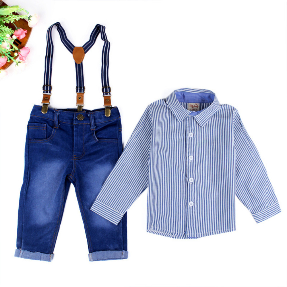 aba114df0 Baby Boy Gentleman Formal Suits Little Boys T shirt+Suspender ...