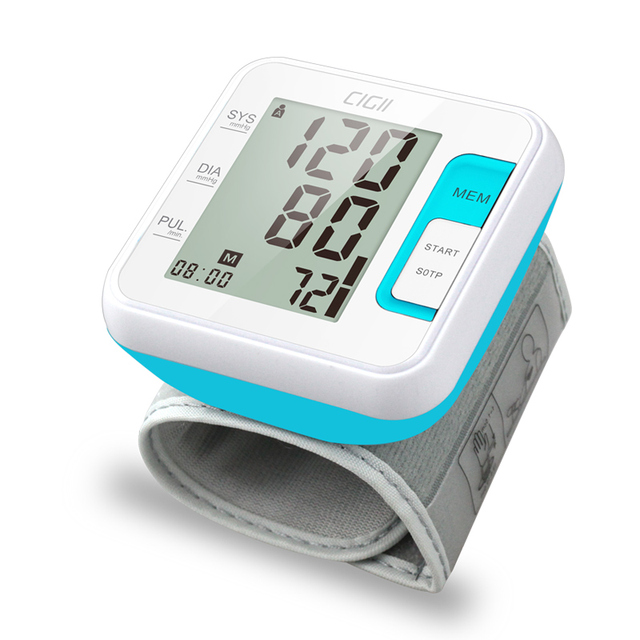 Cigii Tonometer Smart digital display bracelet Heart rate monitor 1 PCS Health care Wrist blood pressure Monitor 2