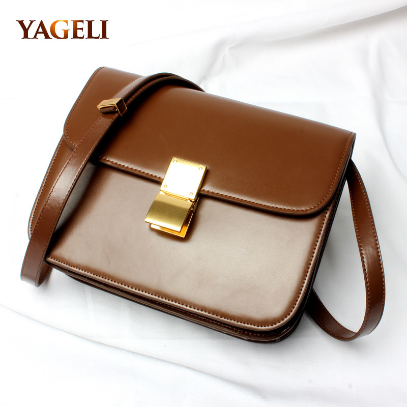 2018 classic box brand design flap lady handbags genuine leather crossbody bags for women fashion women shouleder messenger bags women messenger bags genuine leather single shoulder bags solid small flap women handbags mini classic box