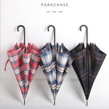 Parachase Umbrella Rain Women British Style Plaid Golf Automatic Ultralight Paraguas Travel Long Handle Umbrellas Girls