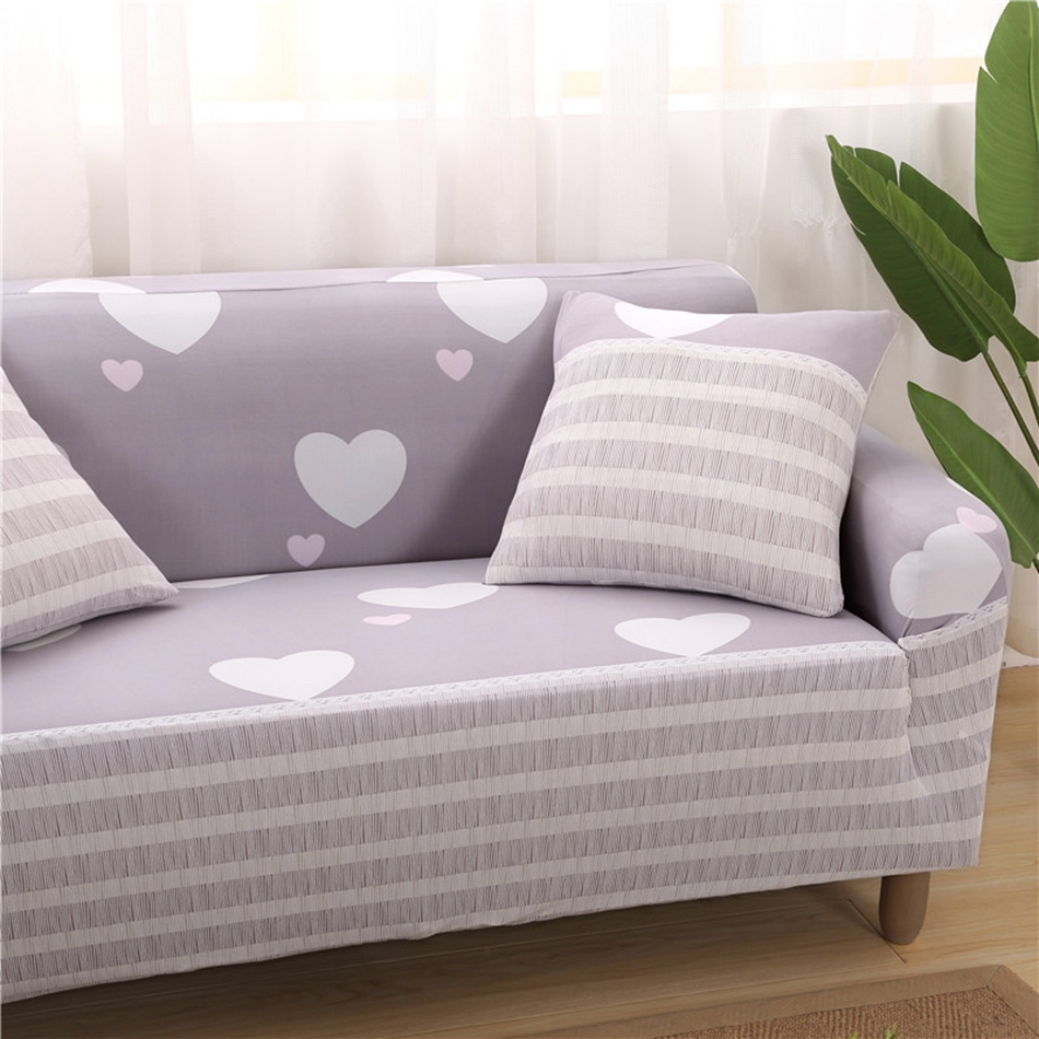 Sweet Heart Pattern Universal Stretch Sofa Covers For Living Room ...