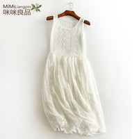 Hollow out lace basic vest full slip guaze big bottom solid all match medium long petticoat autumn and winter underskirt