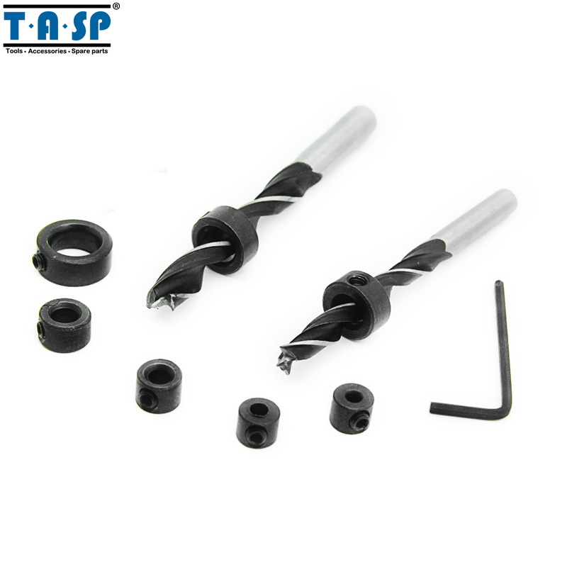 TASP Drill Bit Depth Stop Collars Ring Positioner Drill Locator Tool 3~12mm 7PC for Woodworking dental x ray complete film positioning system positioner holders locator
