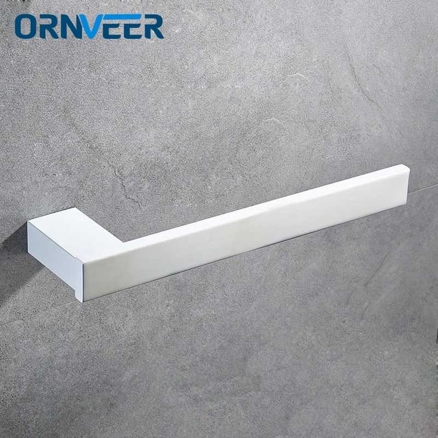 Towel Rings Matte White Or Black Toilet Paper Holder Hanger Storage