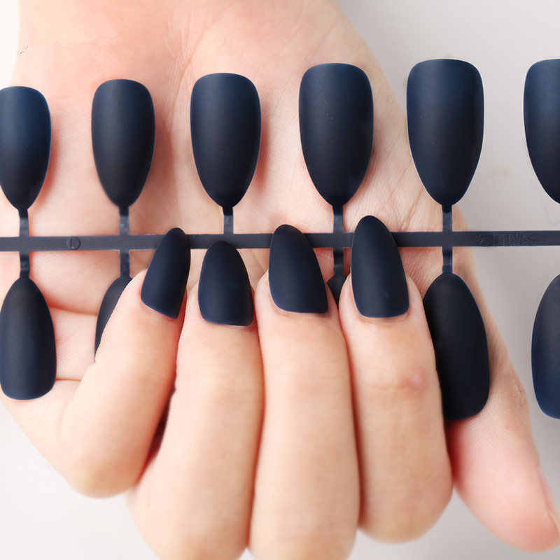 Nail Art Manicure 24pcs Matte Tips for False Nails Fake Nails Forms for Extension Manicure Art for False Nails