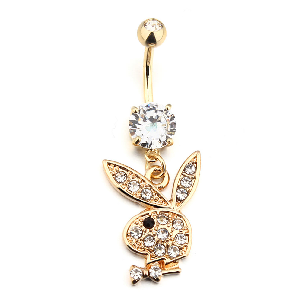 New Style Cute Rabbit Navel Bell Button Rings 316L Surgical Steel Piercing Belly Button Rings Navel Piercing Sex Body Jewelry