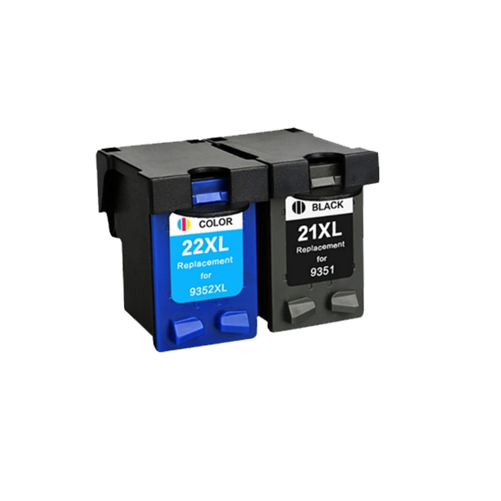 1set Compatible 21XL 22XL Ink Cartridge For HP21 22 Deskjet F380 F2280 3910 3915 3918 3920 3930 3938 3940 D1530 D1311 D1320 2180 free shipping for hp 21xl 22xl ink cartridge c9351an c9352an for hp deskjet 3915 3920 3930v d1530 d1320 d1311 d1455 printer