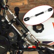 """Универсальный черный 7/8 """"22 мм алюминиевый руль мотоцикла поперечины руль укрепить регулируемая ручка бар Прямая доставка"""