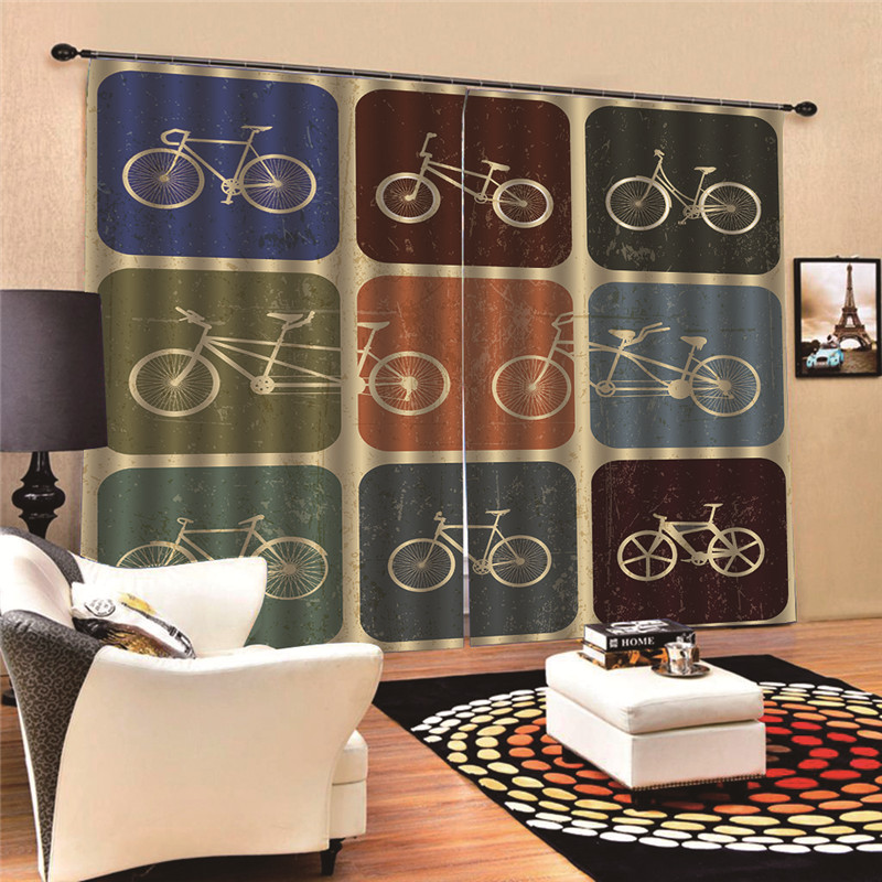 Curtains for living room Bike Window Screening Solid Door Curtains Drape Panel Sheer Tulle 3D Digital Print MA10Curtains for living room Bike Window Screening Solid Door Curtains Drape Panel Sheer Tulle 3D Digital Print MA10