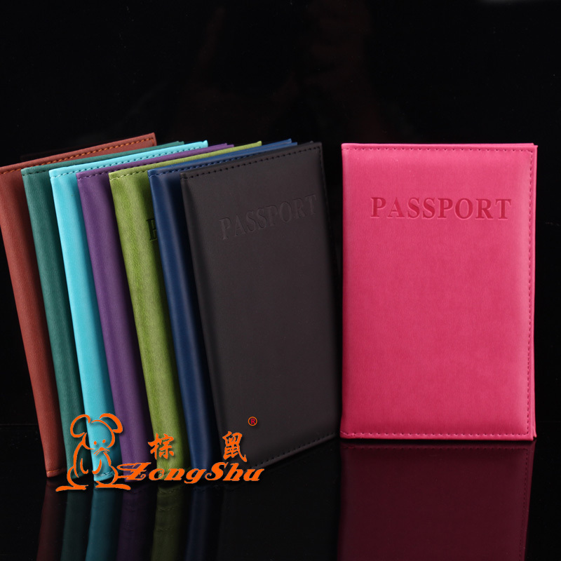 New Litchi Pattern Microfiber Leather Passport Cover Men Travel Passport Holder Card Case Man Card High Quality Card & Id Holders