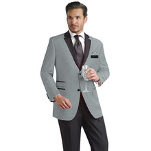 fashion suits slim fit custom made tuxedo for men suit gray wedding high quality groom wear 2017