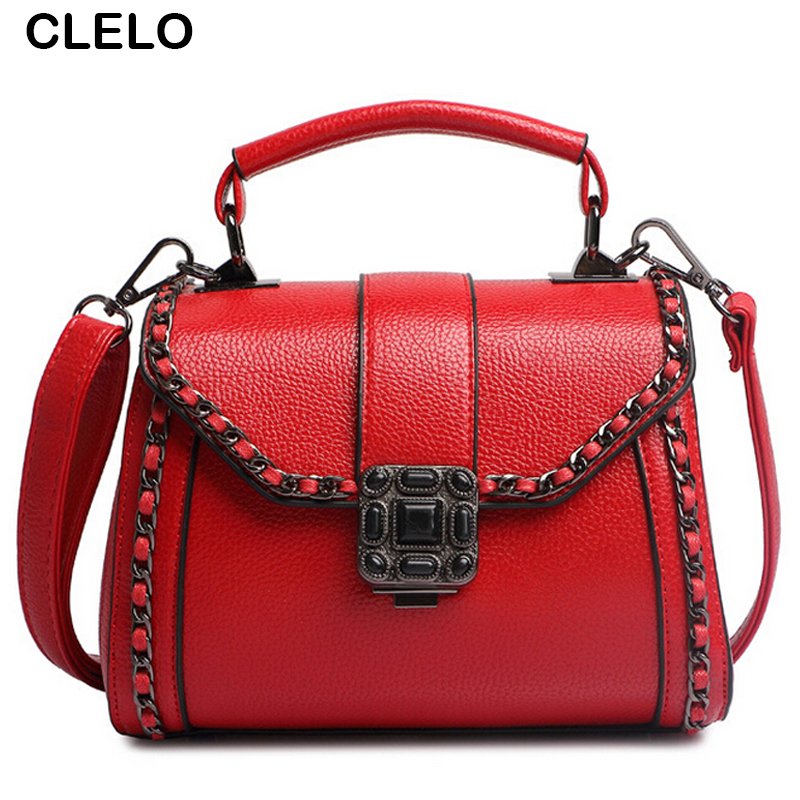CLELO Black Handbags Retro Designer Bag Female Brand Flap Small Bag Women Shoulder Crossbody Bags Clutch Purse bolsa feminina qweek luxury handbags women bags designer 2017 pu leather shoulder bag female printing bolsa feminina mini flap crossbody bags