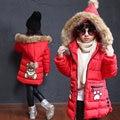 Kids Girls Winter Coat 2016 New Teenage Girl Long Thicken Warm Jacket Outwear Children Hooded Fur Collar Parka Kids Clothes