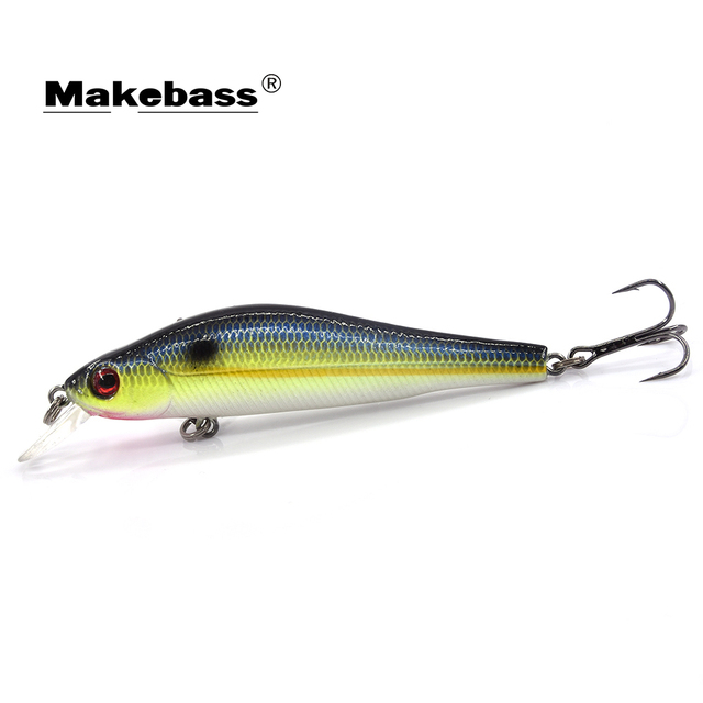 MAKEBASS Jerkbait Minnow Suspending Hard Baits 3in/0.3oz Artificial Fishing Lures Fishing Tackle Focus on Middle and Upper Layer