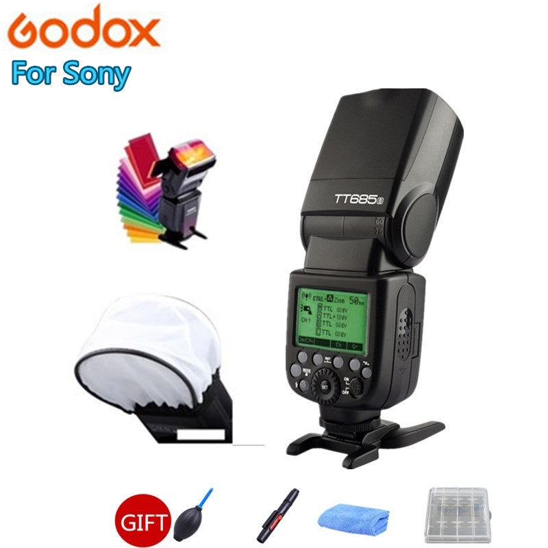 Godox TT685S 2,4G HSS 1/8000 s i-TTL GN60 inalámbrico Speedlite Flash para Sony A77II A7RII a7R A58 A9 A99 A6300 A6500 + regalo Kit