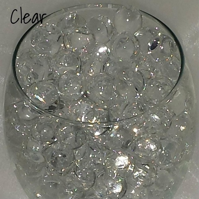 5000 Water Aqua Soil Crystals Bio Gel Ball Beads Wedding Vase Filler