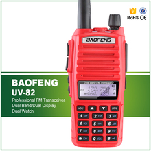 New Arrival 5W Dual Band Red Color BAOFENG UV-82 Professional Ham Amateur Radio Transceiver PTT Headset