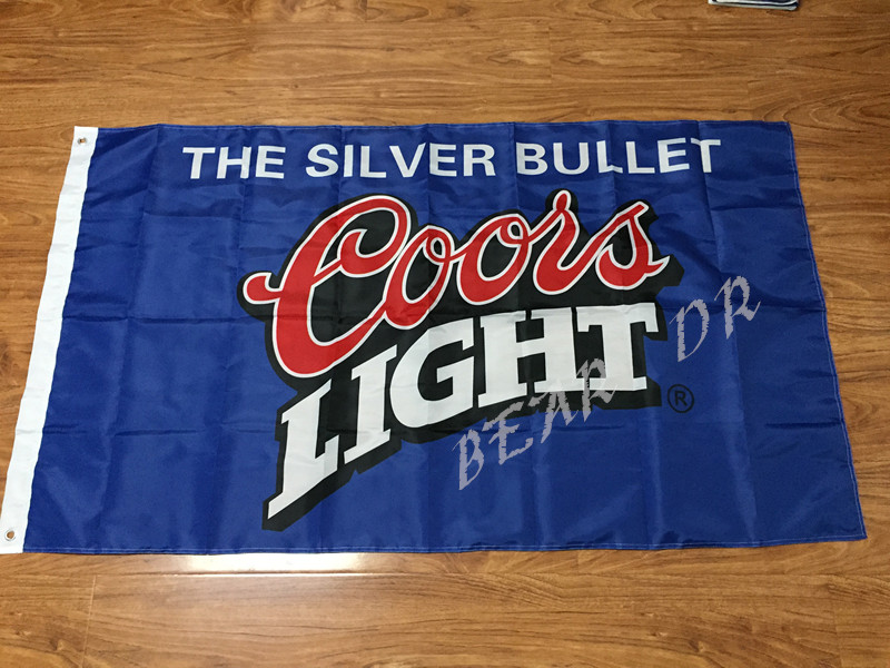 Coors Light Beer Sports Bar Flag White Flag 3ft x 5ft Polyester Banner Flying 150* 90cm Custom flag outdoor