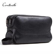 CONTACTS Косметичка органайзер для косметики, в винтажном стиле из 100% натуральной кожи , удобная для хранения косметики дорожные сумки 2019