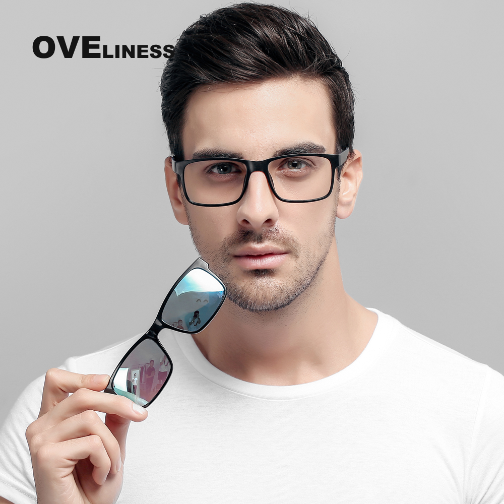 Eyeglasses Brand Designer Polarized Magnet Clip Glasses Men Women Frame Myopia Glasses Prescription Optical Sunglasses Eyewear