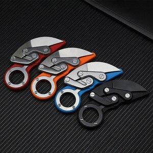 Cuchillo plegable mecánico CS para exteriores, CS Karambit claw GO, cuchillo de anillo de supervivencia con garra, herramientas tácticas de bolsillo, herramienta mini EDC