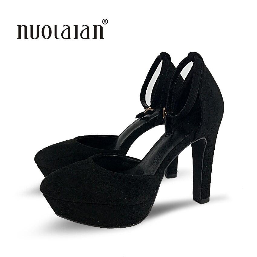 Fstg Cm Noir Fstg forme 12 Femme Plate Hauts Marque khaki De Pompes Talons Femmes Mariage Haute Chaussures Black KROyT