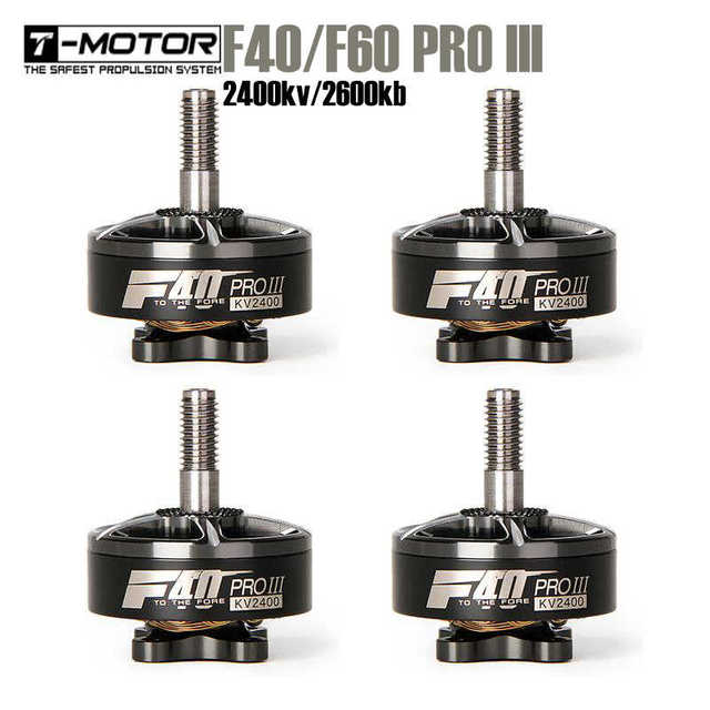 6dad3c2bd4c T-motor F40 F60 Pro III 2400/2500/2600/2700KV 3-4S CW Thread Brushless Motor  for RC Drone FPV Racing Multicopter Motor Part