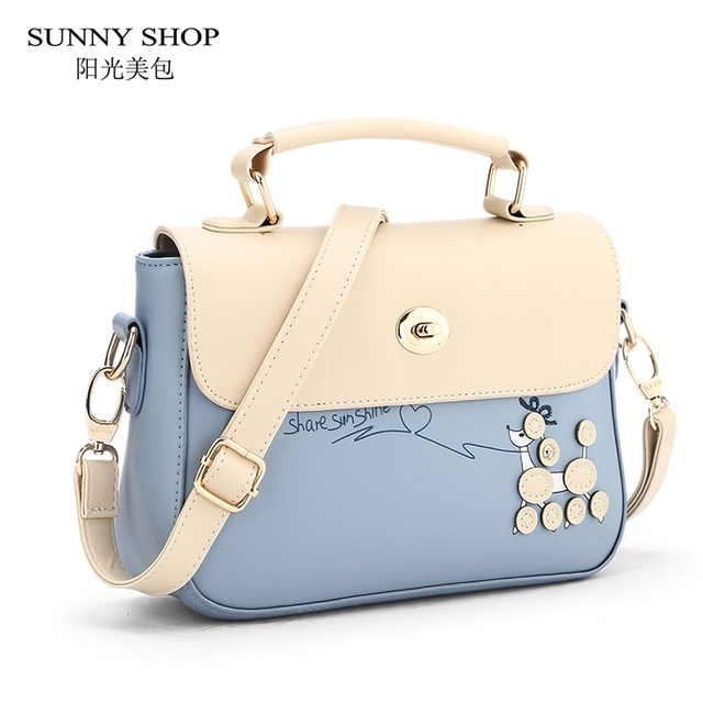 1cc3bc226a1e SUNNY SHOP Korean Preppy Style Women School Bags Cute Girls Messenger Bags  Designer Handbags High Quality Bags For Kids