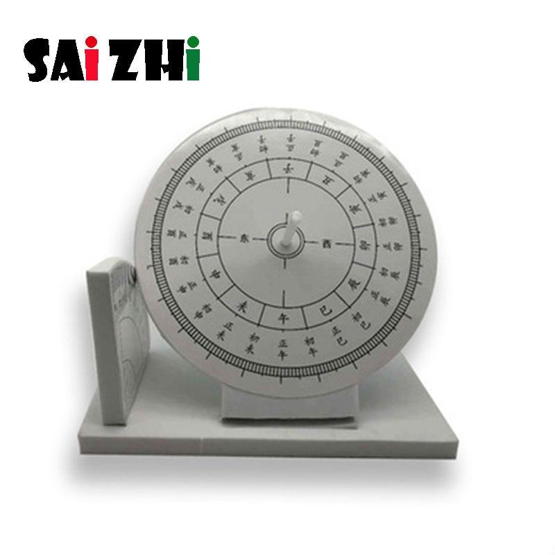 Saizhi Diy Sun Clock Sundial Developing Intellectual STEM Toy Science Experiment Kit Kids Lab Set Birthday Gift SZ3238