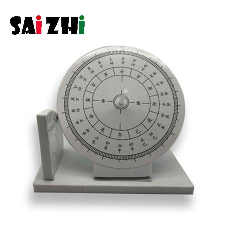 Saizhi bricolage horloge solaire cadran solaire développement intellectuel tige jouet Science expérience Kit enfants laboratoire ensemble cadeau d'anniversaire SZ3238