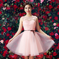 robe de soiree celebrity cocktail gown short sexy lace light pink knee length sweetheart dresses 2017 new arrival H3602
